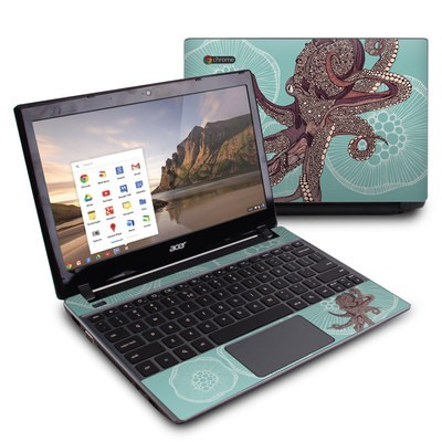 Acer Chromebook C7 Skin - Octopus Bloom