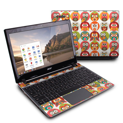 Acer Chromebook C7 Skin - Owls Family