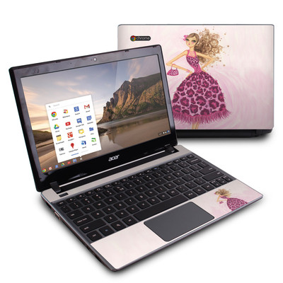 Acer Chromebook C7 Skin - Perfectly Pink