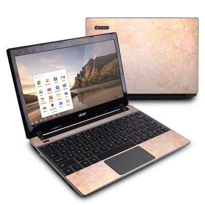 Acer Chromebook C7 Skin - Rose Gold Marble
