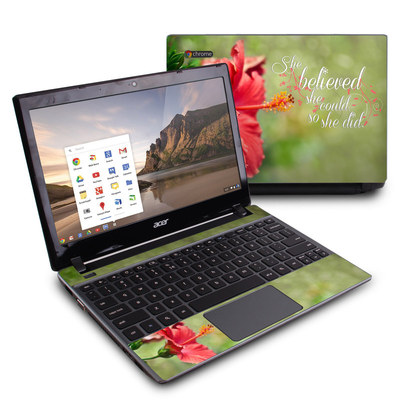 Acer Chromebook C7 Skin - She Believed