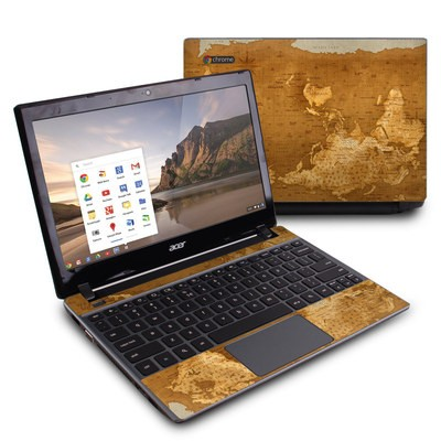 Acer Chromebook C7 Skin - Upside Down Map