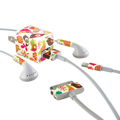 Apple iPhone Charge Kit Skin - Bird Flowers