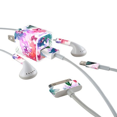 Apple iPhone Charge Kit Skin - Blurred Flowers