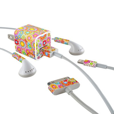 Apple iPhone Charge Kit Skin - Bright Ditzy