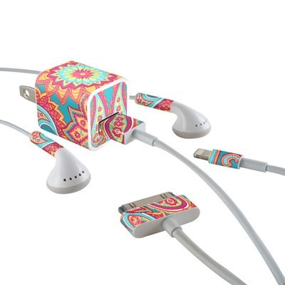 Apple iPhone Charge Kit Skin - Carnival Paisley