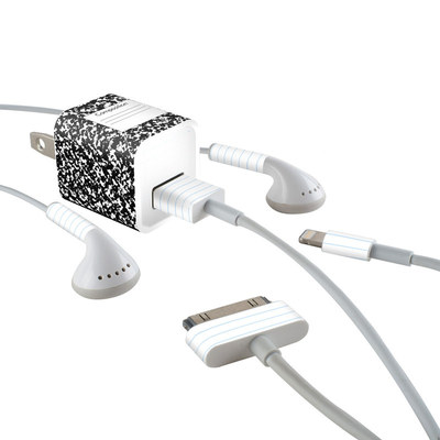 Apple iPhone Charge Kit Skin - Composition Notebook