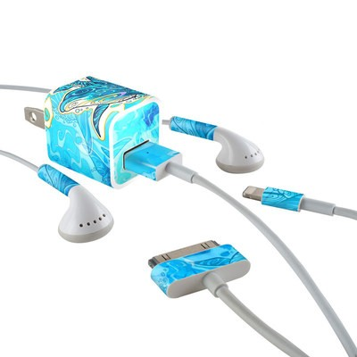 Apple iPhone Charge Kit Skin - Dolphin Daydream
