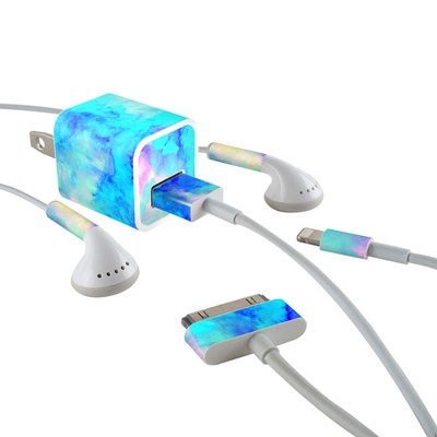 Apple iPhone Charge Kit Skin - Electrify Ice Blue