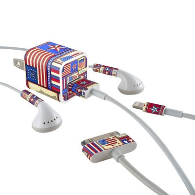 Apple iPhone Charge Kit Skin - Flag Patchwork