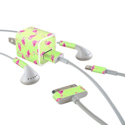 Apple iPhone Charge Kit Skin - Flamingo Day