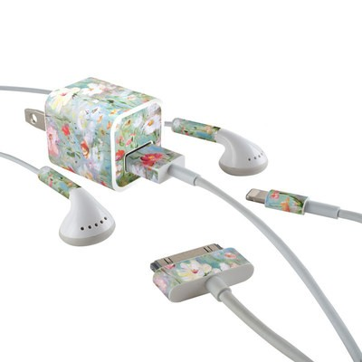 Apple iPhone Charge Kit Skin - Flower Blooms