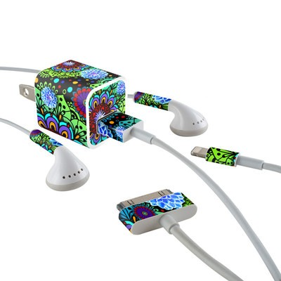 Apple iPhone Charge Kit Skin - Funky Floratopia
