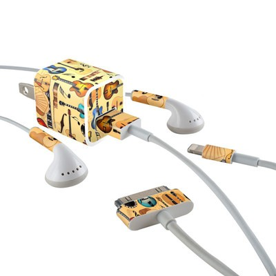 Apple iPhone Charge Kit Skin - Guitar Collage