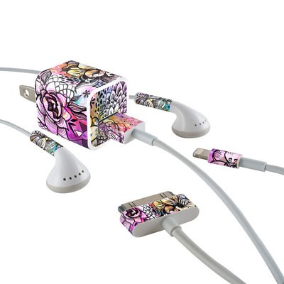 Apple iPhone Charge Kit Skin - Hot House Flowers