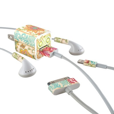 Apple iPhone Charge Kit Skin - Ikat Floral