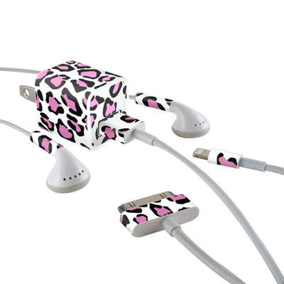 Apple iPhone Charge Kit Skin - Leopard Love
