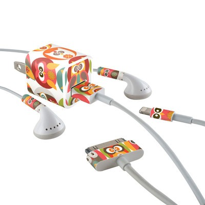Apple iPhone Charge Kit Skin - Owls Family