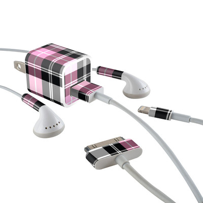 Apple iPhone Charge Kit Skin - Pink Plaid