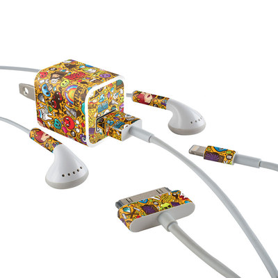 Apple iPhone Charge Kit Skin - Psychedelic