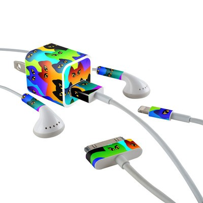 Apple iPhone Charge Kit Skin - Rainbow Cats