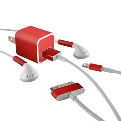 Apple iPhone Charge Kit Skin - Red Burst