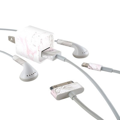 Apple iPhone Charge Kit Skin - Rosa Marble