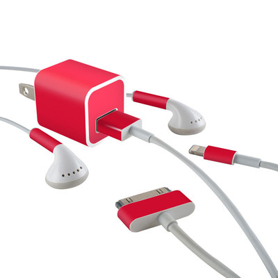Apple iPhone Charge Kit Skin - Solid State Red