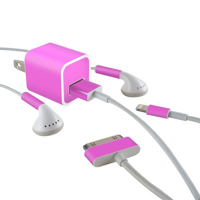 Apple iPhone Charge Kit Skin - Solid State Vibrant Pink