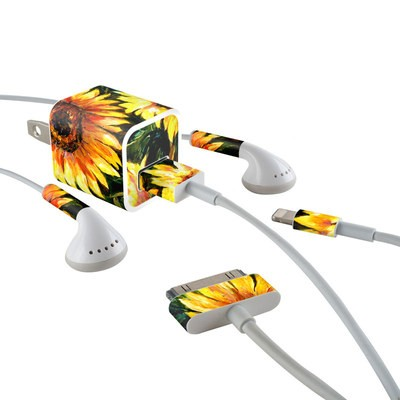 Apple iPhone Charge Kit Skin - Sunflower Sunshine