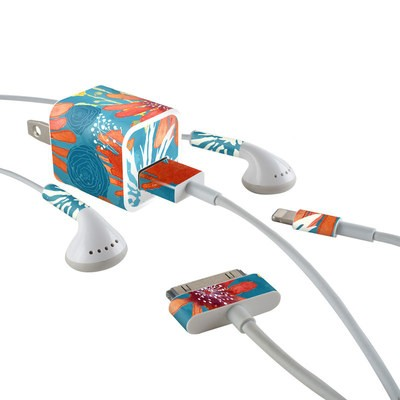 Apple iPhone Charge Kit Skin - Sunbaked Blooms