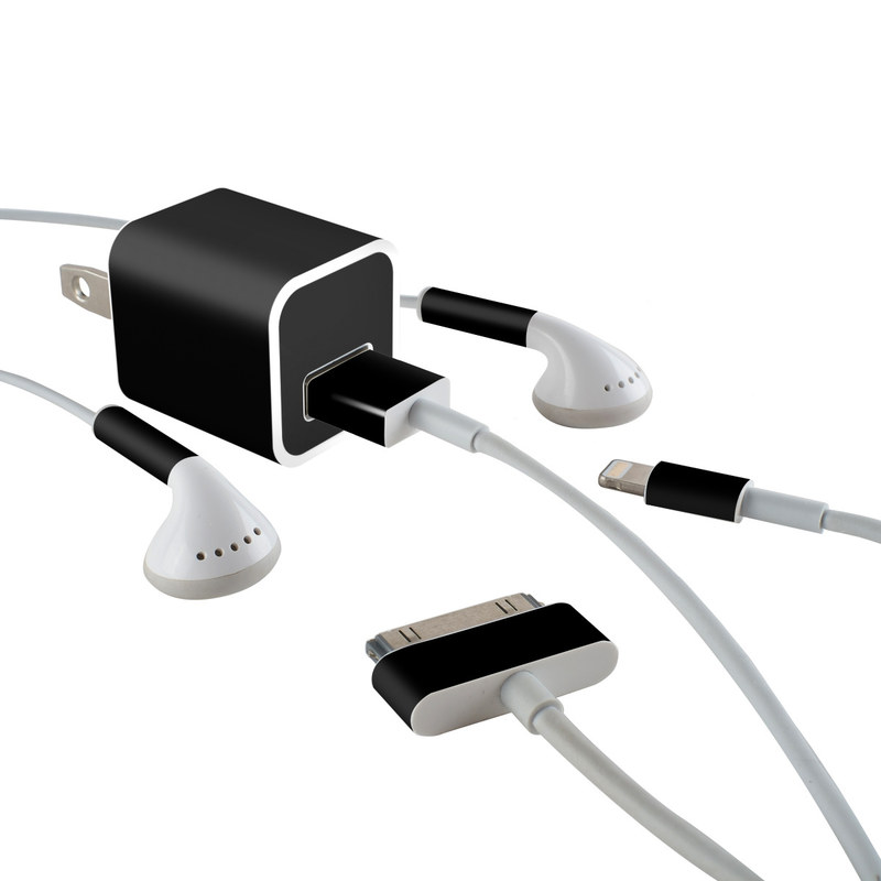 84e916d731d4 Apple iPhone Charge Kit Skin - Solid State Black by Solid Colors ...