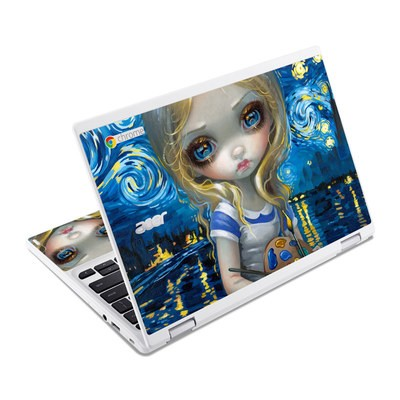 Acer Chromebook R11 Skin - Alice in a Van Gogh