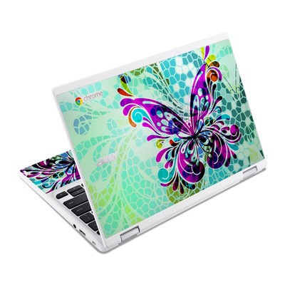 Acer Chromebook R11 Skin - Butterfly Glass