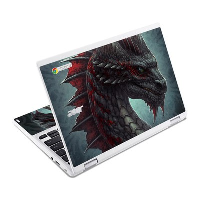 Acer Chromebook R11 Skin - Black Dragon
