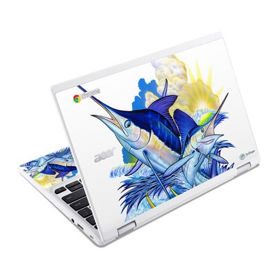 Acer Chromebook R11 Skin - Blue White and Yellow