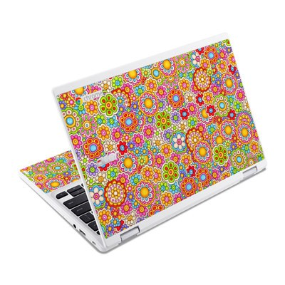 Acer Chromebook R11 Skin - Bright Ditzy