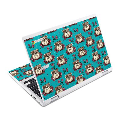 Acer Chromebook R11 Skin - Bulldogs and Roses
