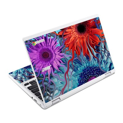 Acer Chromebook R11 Skin - Deep Water Daisy Dance