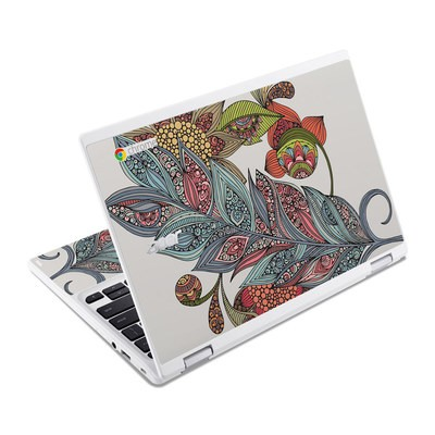 Acer Chromebook R11 Skin - Feather Flower
