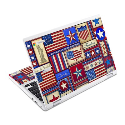 Acer Chromebook R11 Skin - Flag Patchwork