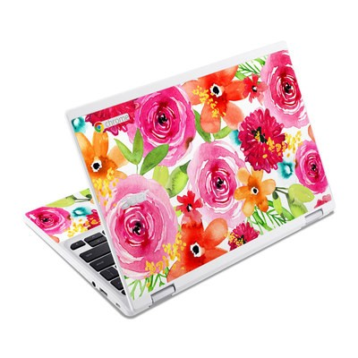 Acer Chromebook R11 Skin - Floral Pop