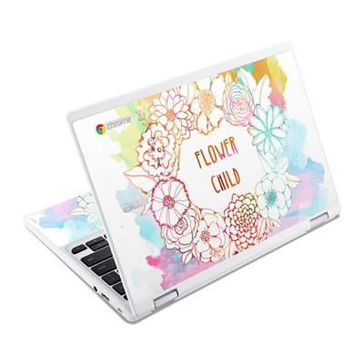Acer Chromebook R11 Skin - Flower Child