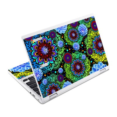Acer Chromebook R11 Skin - Funky Floratopia