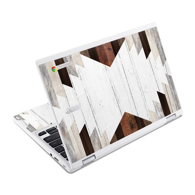 Acer Chromebook R11 Skin - Geo Wood