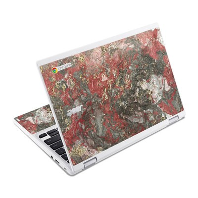 Acer Chromebook R11 Skin - Gilded Magma Marble