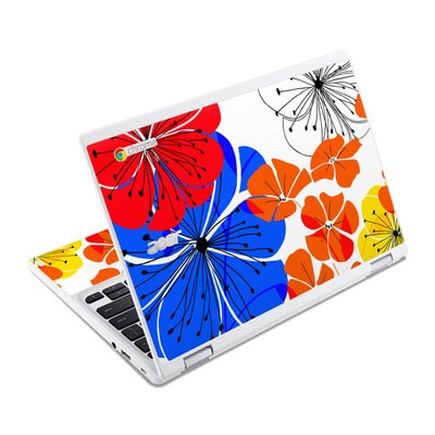 Acer Chromebook R11 Skin - Hibiscus Dance