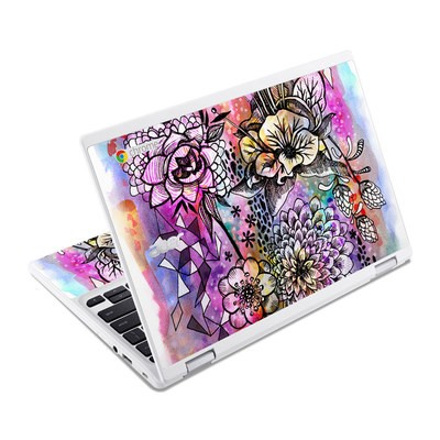Acer Chromebook R11 Skin - Hot House Flowers