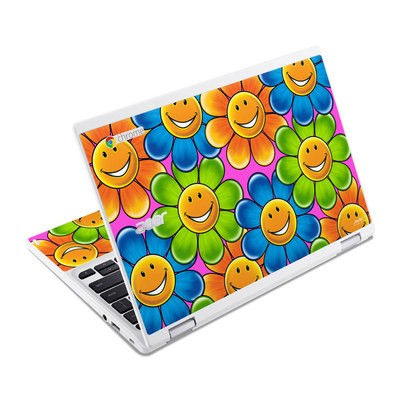 Acer Chromebook R11 Skin - Happy Daisies