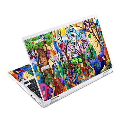 Acer Chromebook R11 Skin - Happy Town Celebration